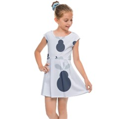 Apples Pears Continuous Kids  Cap Sleeve Dress by HermanTelo