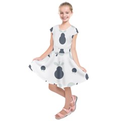 Apples Pears Continuous Kids  Short Sleeve Dress by HermanTelo
