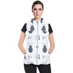 Apples Pears Continuous Women s Puffer Vest by HermanTelo