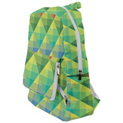 Background Colorful Geometric Triangle Travelers  Backpack by HermanTelo