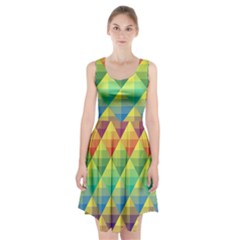 Background Colorful Geometric Triangle Racerback Midi Dress by HermanTelo