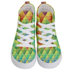 Background Colorful Geometric Triangle Kids  Hi Top Skate Sneakers