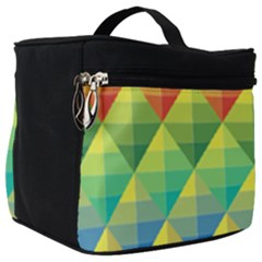 Background Colorful Geometric Triangle Make Up Travel Bag (big) by HermanTelo