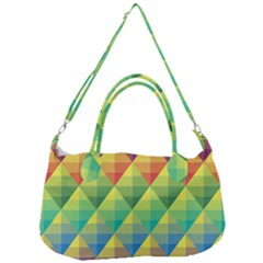 Background Colorful Geometric Triangle Removal Strap Handbag