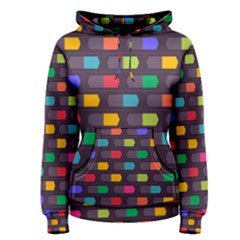 Background Colorful Geometric Women s Pullover Hoodie by HermanTelo