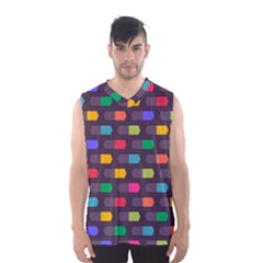 Background Colorful Geometric Men s Basketball Tank Top by HermanTelo