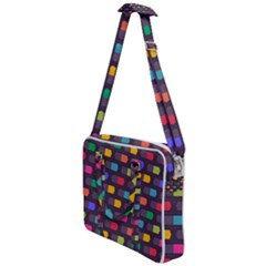 Background Colorful Geometric Cross Body Office Bag by HermanTelo