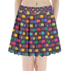 Background Colorful Geometric Pleated Mini Skirt by HermanTelo