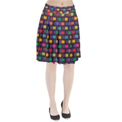 Background Colorful Geometric Pleated Skirt by HermanTelo