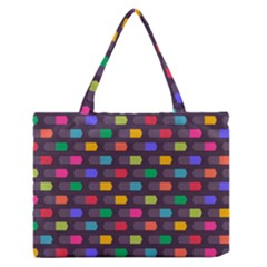 Background Colorful Geometric Zipper Medium Tote Bag by HermanTelo