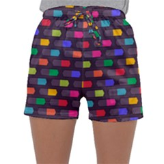 Background Colorful Geometric Sleepwear Shorts by HermanTelo
