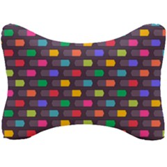 Background Colorful Geometric Seat Head Rest Cushion by HermanTelo