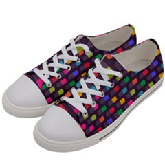 Background Colorful Geometric Women s Low Top Canvas Sneakers by HermanTelo