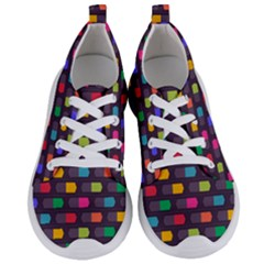 Background Colorful Geometric Women s Lightweight Sports Shoes