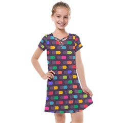 Background Colorful Geometric Kids  Cross Web Dress by HermanTelo