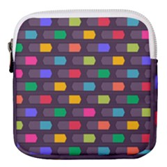 Background Colorful Geometric Mini Square Pouch by HermanTelo