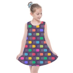 Background Colorful Geometric Kids  Summer Dress by HermanTelo