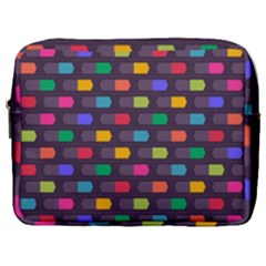 Background Colorful Geometric Make Up Pouch (large) by HermanTelo