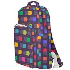 Background Colorful Geometric Double Compartment Backpack by HermanTelo