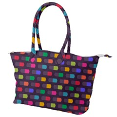 Background Colorful Geometric Canvas Shoulder Bag by HermanTelo