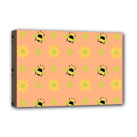 Bee Bug Nature Wallpaper Deluxe Canvas 18  X 12  (stretched)