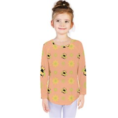 Bee Bug Nature Wallpaper Kids  Long Sleeve Tee