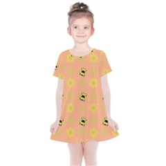 Bee Bug Nature Wallpaper Kids  Simple Cotton Dress