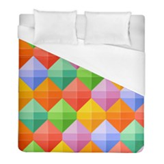 Background Colorful Geometric Triangle Rainbow Duvet Cover (full/ Double Size) by HermanTelo