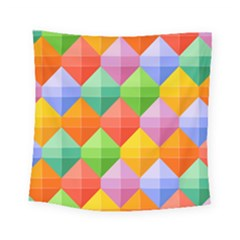 Background Colorful Geometric Triangle Rainbow Square Tapestry (small) by HermanTelo