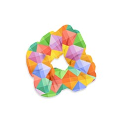 Background Colorful Geometric Triangle Rainbow Velvet Scrunchie by HermanTelo
