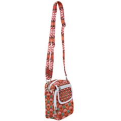 Background Floral Pattern Red Shoulder Strap Belt Bag by HermanTelo