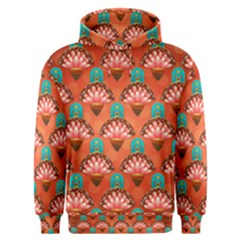 Background Floral Pattern Red Men s Overhead Hoodie by HermanTelo