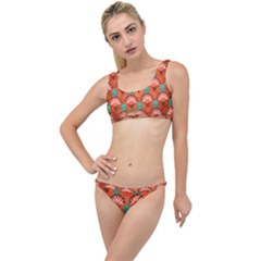 Background Floral Pattern Red The Little Details Bikini Set by HermanTelo