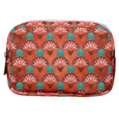 Background Floral Pattern Red Make Up Pouch (small) by HermanTelo