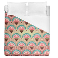 Background Floral Pattern Pink Duvet Cover (queen Size) by HermanTelo