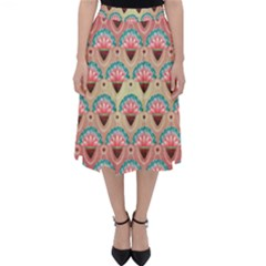 Background Floral Pattern Pink Classic Midi Skirt by HermanTelo