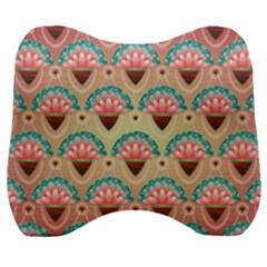 Background Floral Pattern Pink Velour Head Support Cushion