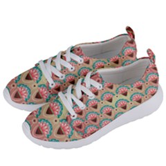 Background Floral Pattern Pink Women s Lightweight Sports Shoes by HermanTelo