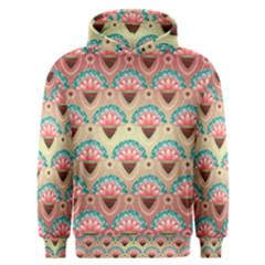 Background Floral Pattern Pink Men s Overhead Hoodie by HermanTelo