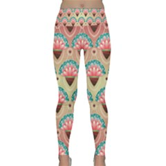 Background Floral Pattern Pink Lightweight Velour Classic Yoga Leggings