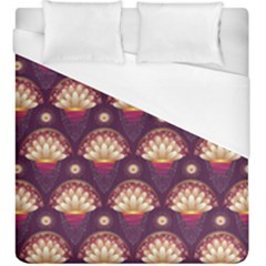 Background Floral Pattern Purple Duvet Cover (king Size) by HermanTelo