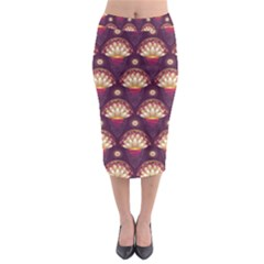Background Floral Pattern Purple Midi Pencil Skirt by HermanTelo