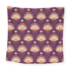 Background Floral Pattern Purple Square Tapestry (large) by HermanTelo
