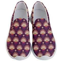 Background Floral Pattern Purple Men s Lightweight Slip Ons by HermanTelo