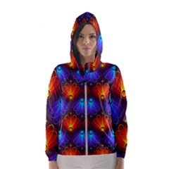 Background Colorful Abstract Women s Hooded Windbreaker by HermanTelo