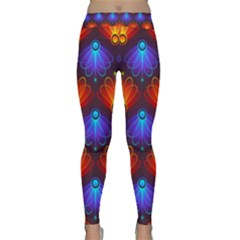 Background Colorful Abstract Classic Yoga Leggings by HermanTelo