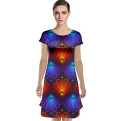 Background Colorful Abstract Cap Sleeve Nightdress by HermanTelo