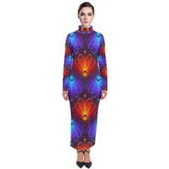 Background Colorful Abstract Turtleneck Maxi Dress by HermanTelo