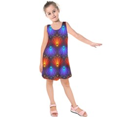 Background Colorful Abstract Kids  Sleeveless Dress by HermanTelo