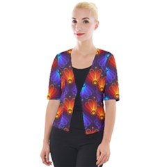 Background Colorful Abstract Cropped Button Cardigan by HermanTelo